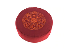 Zafu Meditation Cushion - Red/Orange Design