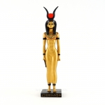 Egyptian Isis Statue w/Gold Accents