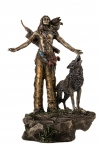 Mohican Indian Warrior with Wolf