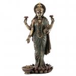 Statue - Lakshmi Standing (Brass Finish)