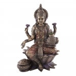 Statue - Seated Lakshmi (Brass Finish)