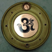 Incense Burner with Copper Om