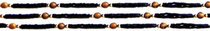 Tulsi Necklace (black) - Tiger's Eye
