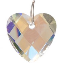 Prism Crystal 32 mm Faceted Heart