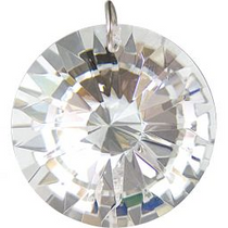 Prism Crystal 40 mm Faceted Disk