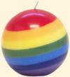 "Rainbow 3"" Globe Candle"