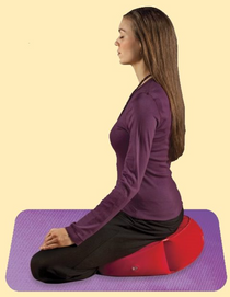 Crescent Meditation Pillow -Inflatable (Assorted Colors)