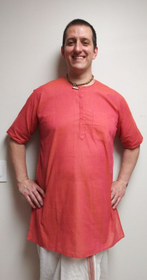 Men's Kurta - Short Sleeves - Orange