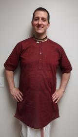 Men's Kurta - Short Sleeves - Maroon
