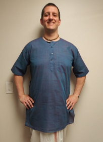 Men's Kurta - Short Sleeves - Blue