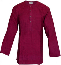 Men's Kurta - Long Sleeves - Red