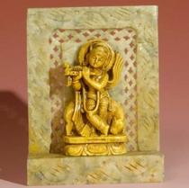 """Statue - Krishna - Soapstone 4"""""""