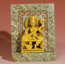 "Statue - Saraswati - Soapstone 4"""