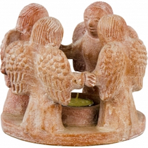 Circle of Angles Ceramic Tea Light Holder