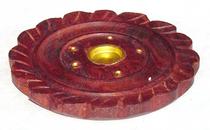 Round Pressed Flower Incense Holder