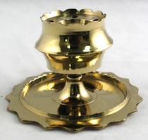 Brass Sun Pedestal Incense Holder