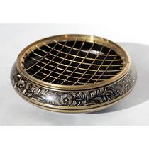 Brass Engraved Screen Incense Burner