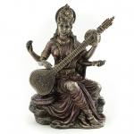 "Statue - Saraswati - 5.75"" (Brass)"