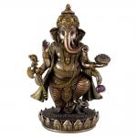 """Statue - Ganesh Standing  - 7.5"""" (Bronze)"""