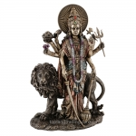"""Statue - Durga - 11"""" (Bronze)"""