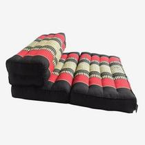 Zafuko Double Foldable Meditation Cushion (Black/Red)