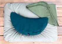 Smile Meditation Cushion - Buckwheat Filled (Indigo)