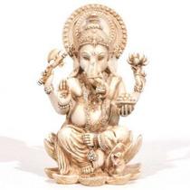 "Statue - Ganesh - Antique Ivory 4"""