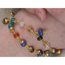 Navaratna - Bracelet (Gold Caps)