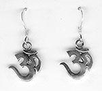 """Small Sterling Silver """"Om"""" Earrings"""