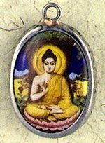 Ceramic Buddha Pendant