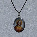 Ceramic Jesus Pendant