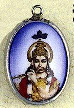 Ceramic Krishna Pendant