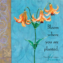Bloom Where You Are Planted... Large Square Magnet