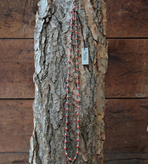 Tulsi Necklace Red Beads