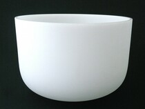 """Frosted Crystal Singing Bowl - E Note - 12"""" Perfect Pitch"""