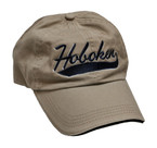 Hoboken Swoosh Cap, Khaki w/navy embroidery