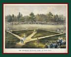 The American National Game of Base Ball, Hoboken, 1866.