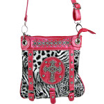 HOT PINK LEOPARD CROSS MESSENGER BAG MB1-MZ001AHPK