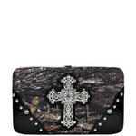 BLACK CROSS MOSSY CAMO LOOK FLAT THICK WALLET FW2-0421BLK