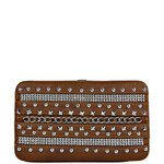 BROWN MULTI CHAIN LOOK THICK FLAT WALLET FW2-1242BRN