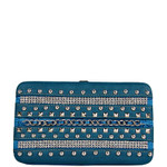 BLUE MULTI CHAIN LOOK THICK FLAT WALLET FW2-1242BLU