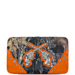 ORANGE MOSSY CAMO PISTOL LOOK FLAT THICK WALLET FW2-1203ORG