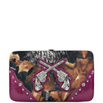 PURPLE MOSSY CAMO PISTOL LOOK FLAT THICK WALLET FW2-1203PPL