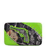 GREEN MOSSY CAMO PISTOL LOOK FLAT THICK WALLET FW2-1204GRN