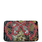 HOT PINK MOSSY CAMO RHINESTONE PISTOL LOOK FLAT THICK WALLET FW2-1213HPK