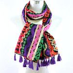 ORANGE MULTI TRIBAL PRINT NECK SCARF NS1-0142ORG