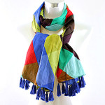 BLUE MULTI DIAMOND PRINT NECK SCARF NS1-0144BLU