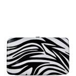 TURQUOISE TRIM ZEBRA LOOK FLAT THICK WALLET FW2-0307TRQ