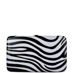 BLACK TRIM ZEBRA LOOK FLAT THICK WALLET FW2-0307BLK