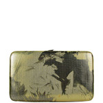 GOLD METALLIC BRUSHED FLORAL LOOK FLAT THICK WALLET FW2-0304GLD